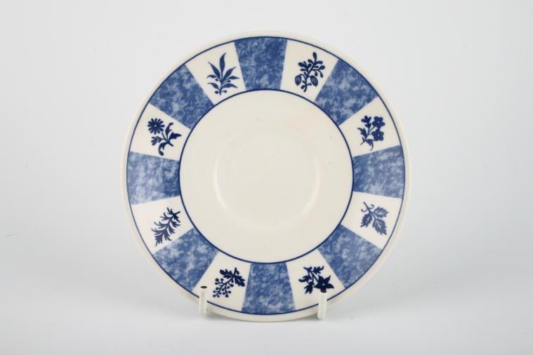 Churchill - Blue and White - Tea Saucer
