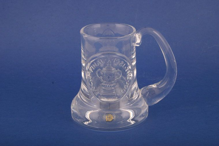 Dartington  - Miscellaneous Drinking - Tankard - Glassware - Commemorative - FA Cup Final Centenary