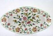"Minton - Haddon Hall - Green Edge - Serving Dish - 9"" - See Pickle Dish"