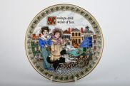 """Royal Worcester - Days Of The Week - Modern - Wall Plate - 7 3/8"""" - Monday, Birthday Plates"""